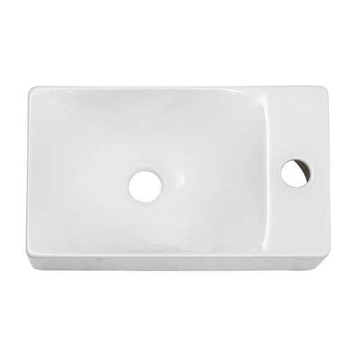 Scarabeo Soft Aufsatz- oder Hängewaschbecken 38 x 22 cm Soft B: 38 T: 22 H: 10 cm weiß 1502