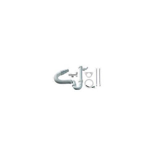 Megabad Profi Collection Anschlussset für Küchenspüle Küchenspülenanschluß weiß/chrom  107
