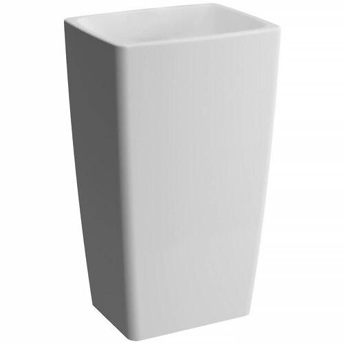 VitrA Metropole Monoblock Waschtisch bodenstehend Metropole B: 50 T: 40 H: 85 cm weiß 5670B003-0016