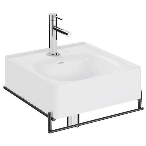 VitrA Equal Set Handtuchhalter und Handwaschbecken Equal B: 46,5 T: 45,2 H: 19,5 cm weiß hochglanz 64079