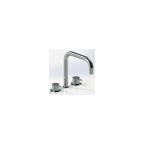 Vola Waschtisch-Dreilocharmatur mit Doppelschwenkauslauf Waschtisch Dreilocharmaturen Standard chrom KV316