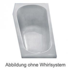 Duscholux PICCOLO 163 Kleinraum Badewanne L: 160 B: 75 H: 45 cm Whirlpool, Ab- und Überlaufgarnitur, Fußgestell 638163021001