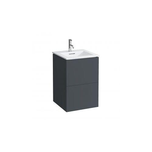 Kartell by Laufen Waschtisch mit Waschtischunterschrank B: 50 H: 72,5 T: 50 cm , 2 Auszügen Front schiefer / Korpus schiefer H8603316421041