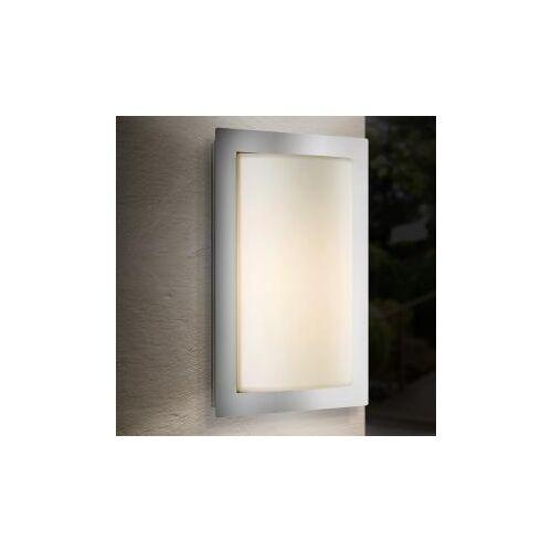 LCD 043 Wandleuchte B: 19,5 H: 31 T: 9,5 cm, edelstahl/weiß 043, EEK: A++