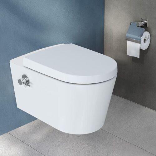 VitrA Options Nest Wand-Tiefspül-WC mit Bidetfunktion, 5176B403-7211