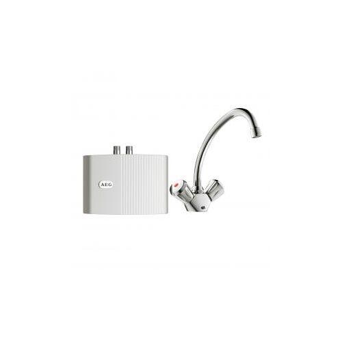 AEG Klein-Durchlauferhitzer MTH 350 UT mit 2-Griff Armatur für Waschtisch MTH 350 mit 2-Griff-Armatur, 3,5 kW 189631, EEK: A