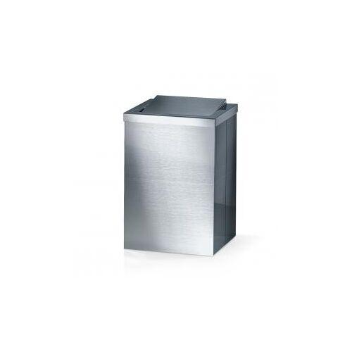 Decor Walther DW 113 Papierkorb mit  Schwingdeckel B: 200 H: 300 T: 200 mm edelstahl gebürstet 0610176