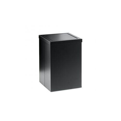 Decor Walther DW 113 Papierkorb mit  Schwingdeckel B: 200 H: 300 T: 200 mm schwarz matt 0610160