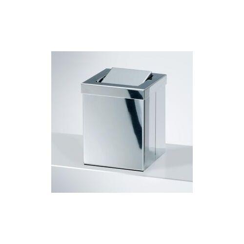 Decor Walther DW 1130 Tischpapierkorb klein mit Schwingdeckel B: 120 H: 150 T: 120 mm edelstahl poliert 0611170