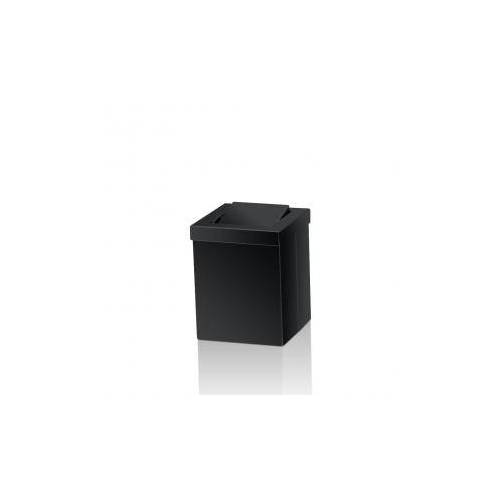 Decor Walther DW 1130 Tischpapierkorb klein mit Schwingdeckel B: 120 H: 150 T: 120 mm schwarz matt 0611160