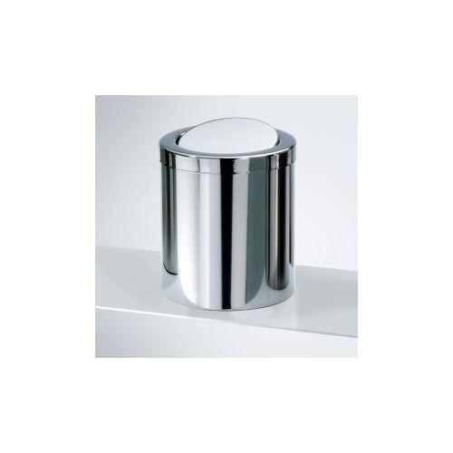 Decor Walther DW 1240 Tischpapierkorb klein mit Schwingdeckel Ø 145 H: 160 mm edelstahl poliert 0611070