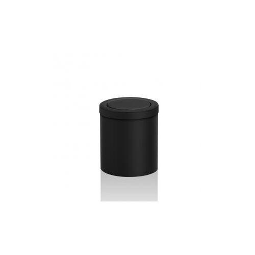 Decor Walther DW 1240 Tischpapierkorb klein mit Schwingdeckel Ø 145 H: 160 mm schwarz matt 0611060