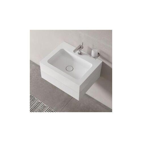 Keuco Edition 300 Mineralguß-Waschtisch 30360 für 1-Loch Armatur, B: 65 H: 15,5 T: 52,5 cm 30360310001