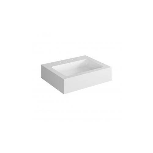 Keuco Edition 300 Mineralguß-Waschtisch 30360 für 3-Loch Armatur, B: 65 T: 52,5 cm 30360310003