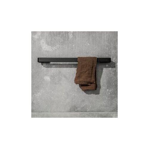 Menu Badetuchhalter B: 600 H: 25 T: 70 mm schwarz matt 7641539
