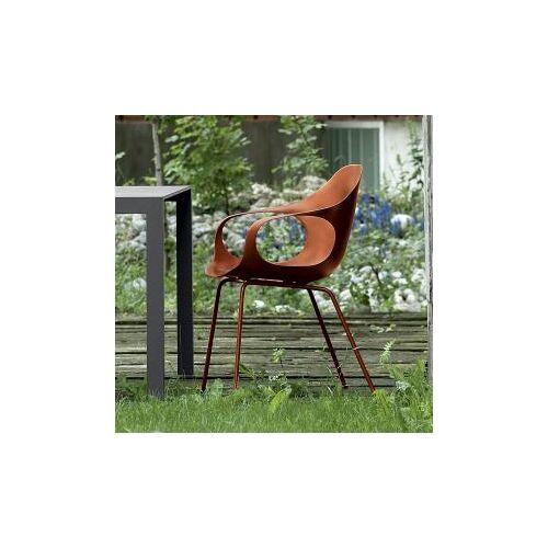 Kristalia Elephant Sessel auf Beinen B:620 H:840 T:600mm, terracotta/terracotta 05ELE11#TERRACOTTA/P06