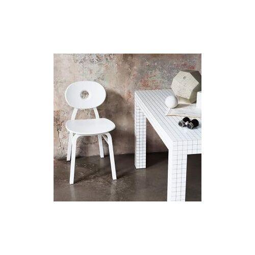 Zanotta Elipse Stuhl B: 410 H: 790 T: 540  mm, weiß 2052#weiß