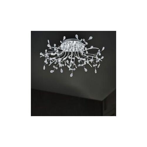 B-LEUCHTEN CRYSTAL LED Deckenleuchte Ø 77 H: 31 cm, chrom/klar 70327/770-02, EEK: A+