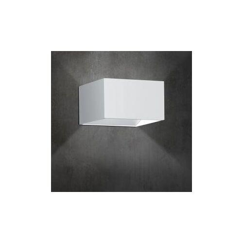 B-LEUCHTEN CUBE LED Wandleuchte B: 10 H: 6 T: 10 cm, weiß 40095/1-07, EEK: A+