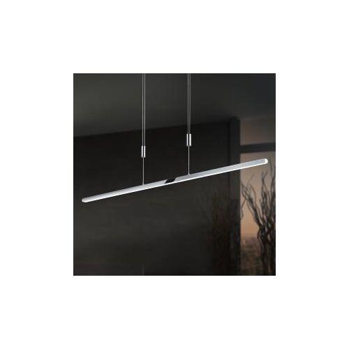 B-LEUCHTEN SUBMARINE LED Pendelleuchte mit Dimmer B: 130 H: 150 T: 2 cm, nickel matt/weiß 20299/1-92, EEK: A+