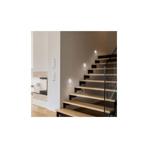 Helestra ONTO LED Einbau-Spot/Wandleuchte Ø 8 H: 1,5 cm, weiß matt 15/1938.07, EEK: A+