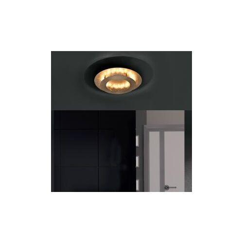 Paul Neuhaus Nevis LED Deckenleuchte Ø 40 H: 8 cm, gold matt 9620-12, EEK: A+