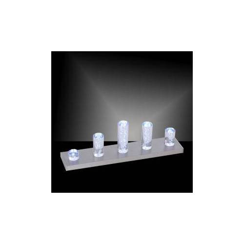 Paul Neuhaus Q-Skyline RGBW LED Tischleuchte m. Dimmer B:46 H:14 T:10 cm, nickel matt/klar 4067-55, EEK: A+