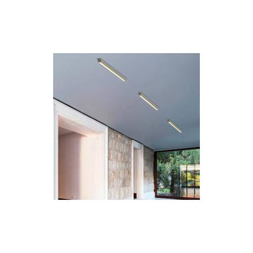 Top Light Only Choice LED Decken-/Wandleuchte B: 60 H: 3,4 T: 3,4 cm, nickel matt/satiniert 8-601653, EEK: A+