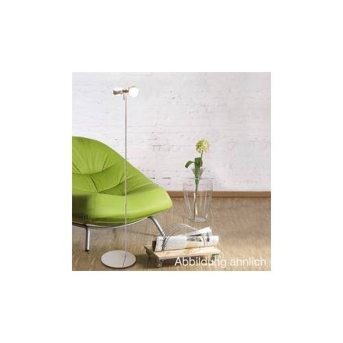 Top Light Puk Floor mini Twin Stehleuchte, Fußdimmer, Halogen Ø 8 L: 120 cm, nickel matt 6-081203-2, EEK: B