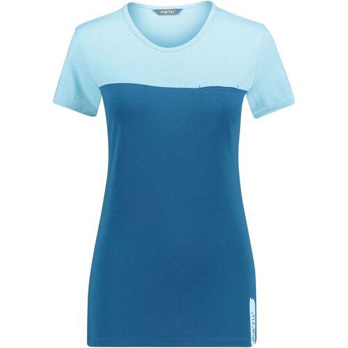 Meru Damen Perama T-Shirt Blau XS
