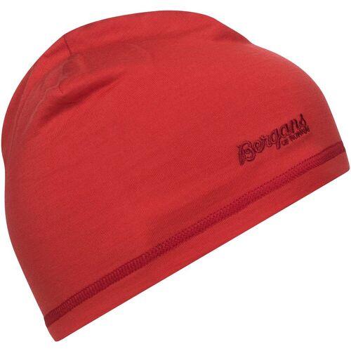 Bergans Kinder Bergans Wool Mütze Rot 50