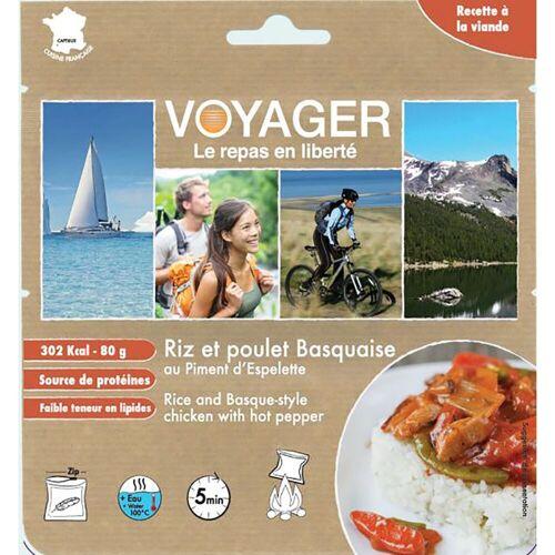 Voyager Reis mit Huhn - baskische Art