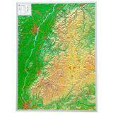 Georelief 3D Reliefkarte Schwarzwald