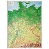 Georelief 3D Reliefkarte Deutschland