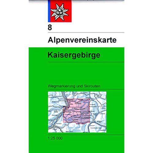 DAV AV-Karte 8 Kaisergebirge