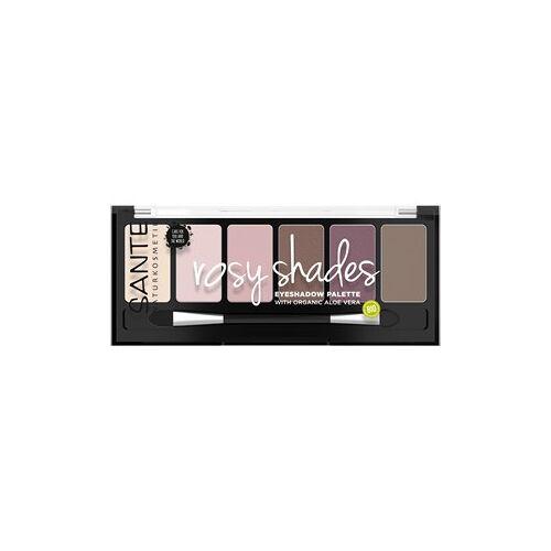 Sante Naturkosmetik Augen Lidschatten Eyeshadow Palette Rosy Shades 6 g
