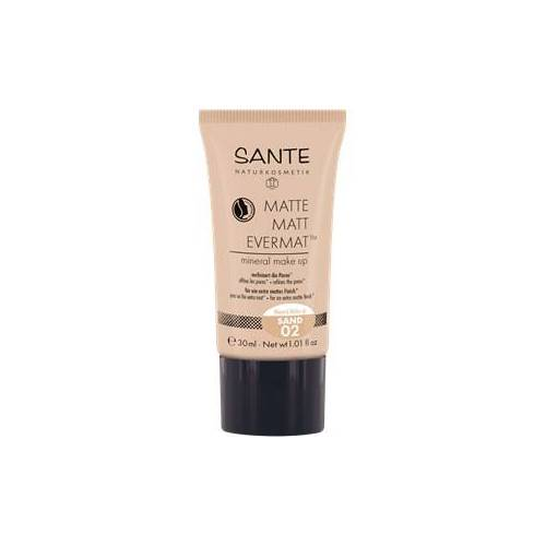 Sante Naturkosmetik Teint Foundation & Puder Matte Matt Evermat Mineral Make-up Nr. 02 Sand 30 ml