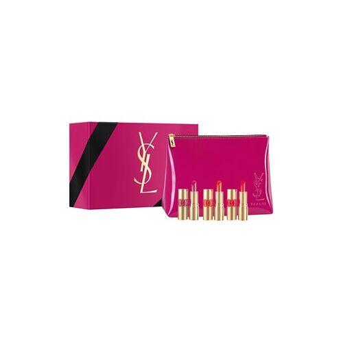 Yves Saint Laurent Make-up Lippen Geschenkset Rouge Volupte Shine Miniature Nr. 12 Corail + Rouge Volupte Shine Miniature Nr. 45 + Rouge Volupte Shine Miniature Nr. 49 1 Stk.
