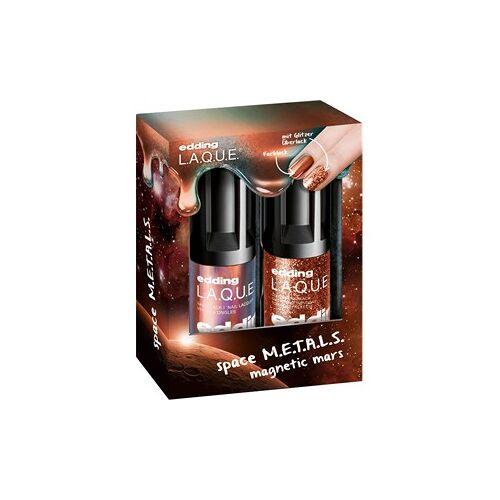 edding Make-up Nägel Magnetic M.A.R.S. Set Nail Lacquer Magnetic Mars 8 ml + Glitter Top Coat Supreme Stardust 8 ml 1 Stk.