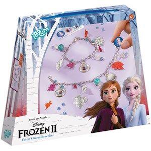 Disney Pflege Frozen II Bettelarmbänder 2 Kettenarmbänder + Perlen + silberfarbene Blättchen + Aufkleber + Ringe + Metalldraht 1 Stk.