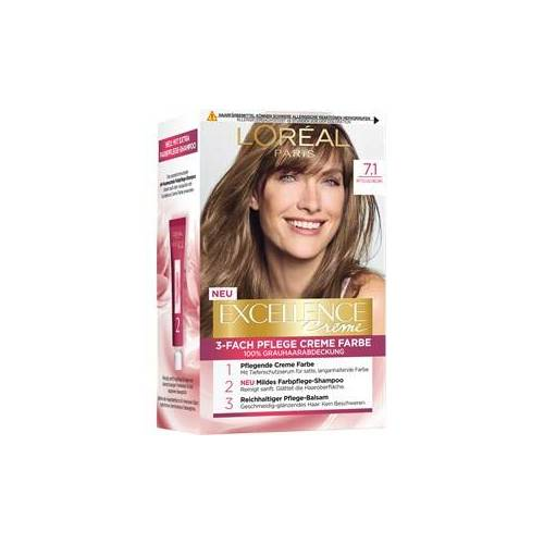 L'Oréal Paris Haarfarben Excellence Crème 7.1 Mittelaschblond 1 Stk.