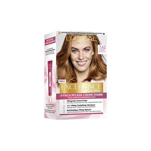 L'Oréal Paris Haarfarben Excellence Crème 7.43 Kupfer Goldblond 1 Stk.