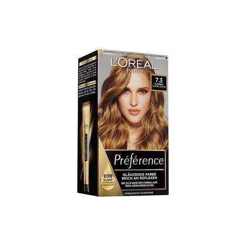 L'Oréal Paris Haarfarben Préférence Karamellblond Coloration 7.3 Florida 1 Stk.