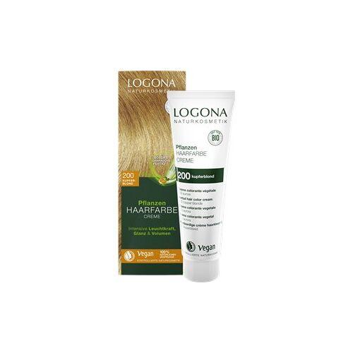 Logona Haarpflege Haarfarbe Pflanzen Haarfarbe Creme Nr. 200 Kupferblond 150 ml