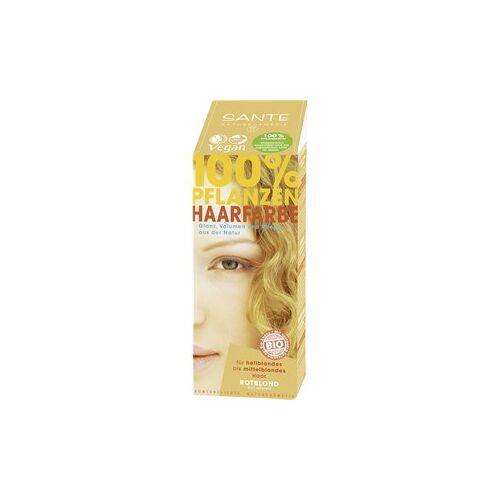 Sante Naturkosmetik Haarpflege Coloration 100% Pflanzen-Haarfarbe-Pulver Naturrot 100 g
