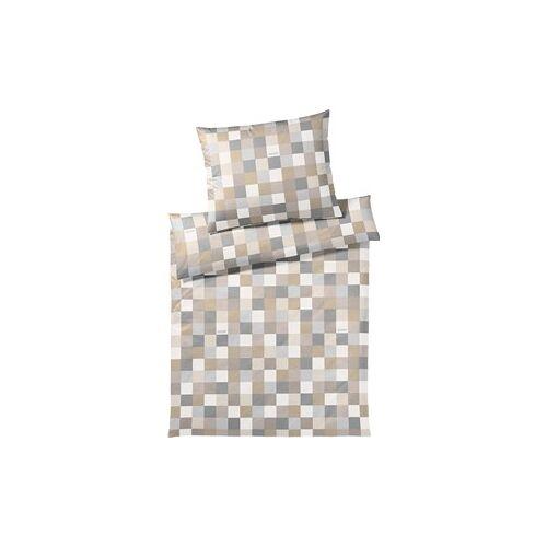 Joop! Bettwäsche Mosaic Bettwäsche Mosaik Sand 135 x 200 cm + 80 x 80 cm 1 Stk.
