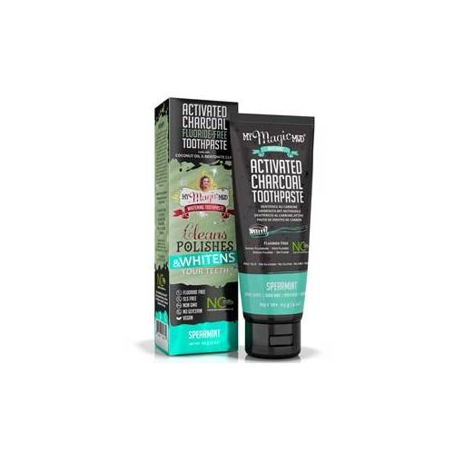 My Magic Mud Zahnpflege Bleaching Activated Charcoal Fluoride-Free Toothpaste Spearmint 113 g