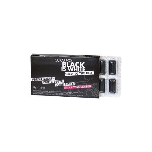 Curaprox Zahnpflege Kaugummi Black Is White Kaugummi 12 Stk.