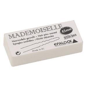 Efalock Professional Haarstyling Haarnadeln und Haarklammern Haarnadeln Mademoiselle Länge 4,5 cm Schwarz 50 Stk.