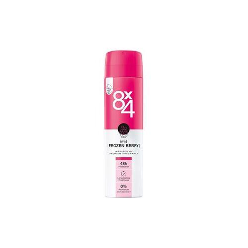 8x4 Deodorants Damen Deodorant Spray Nr. 15 Frozen Berry 150 ml